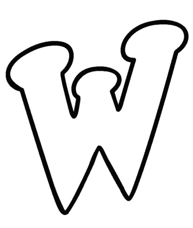Letter W Coloring Pages Find Coloring Alphabet Coloring Pages Bubble Letters Lowercase Alphabet
