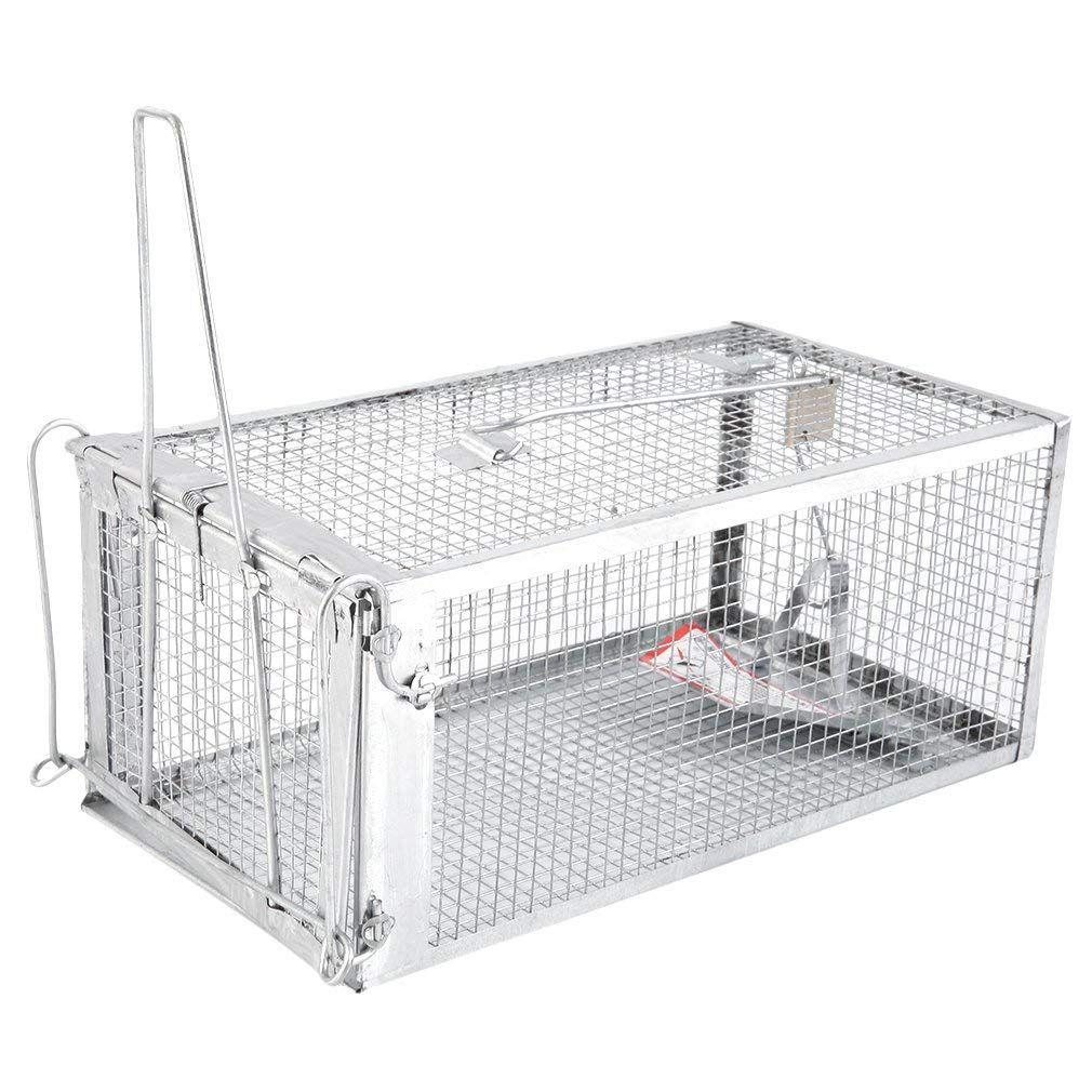 Humane Animal Trap, 27.5x15x12cm Hunting Steel Cage Traps
