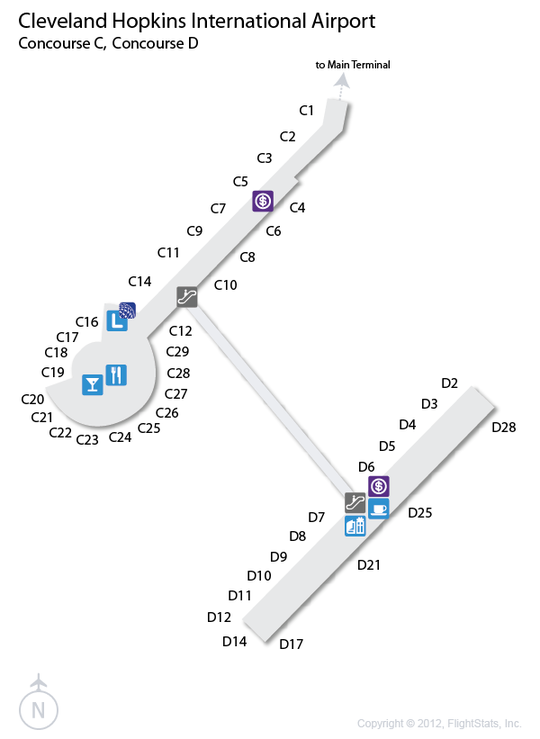 CLE) Cleveland Hopkins International Airport Terminal Map | airports on