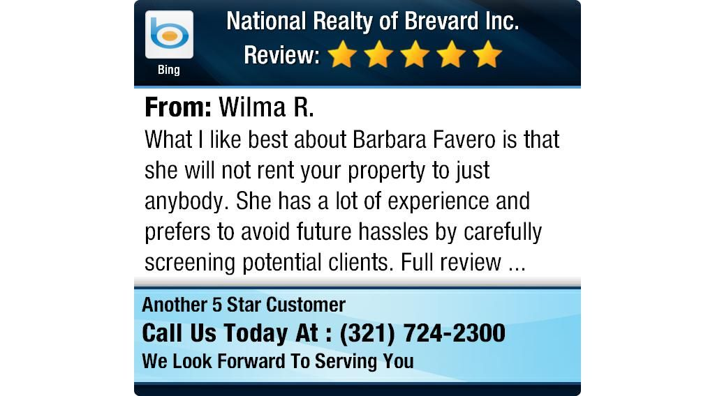 What I Like Best About Barbara Favero Is That She Will Not Rent