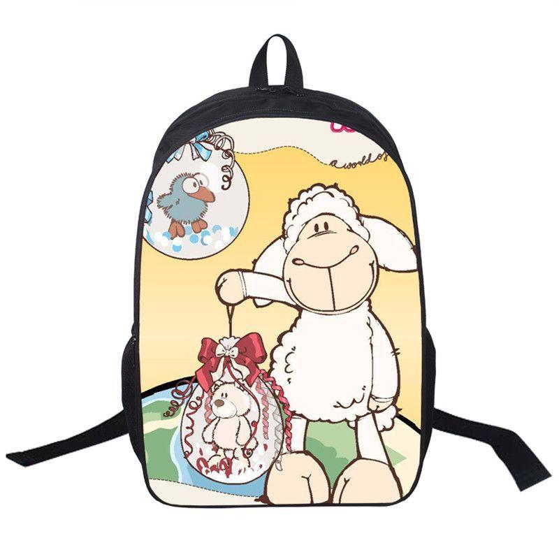 School Bags for Teenagers NICI Cartoon Children Lovely Shoulder Bag 3D Printing Girls Boys Escolar Book Mochilas Kids Backbag