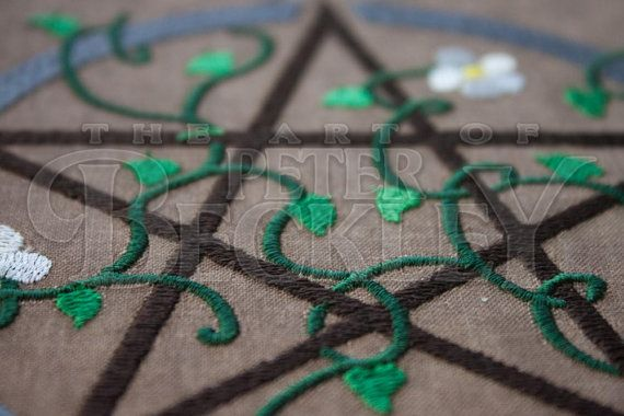 Earth Pentacle Pagan Wiccan Machine Embroidery Pattern by ...