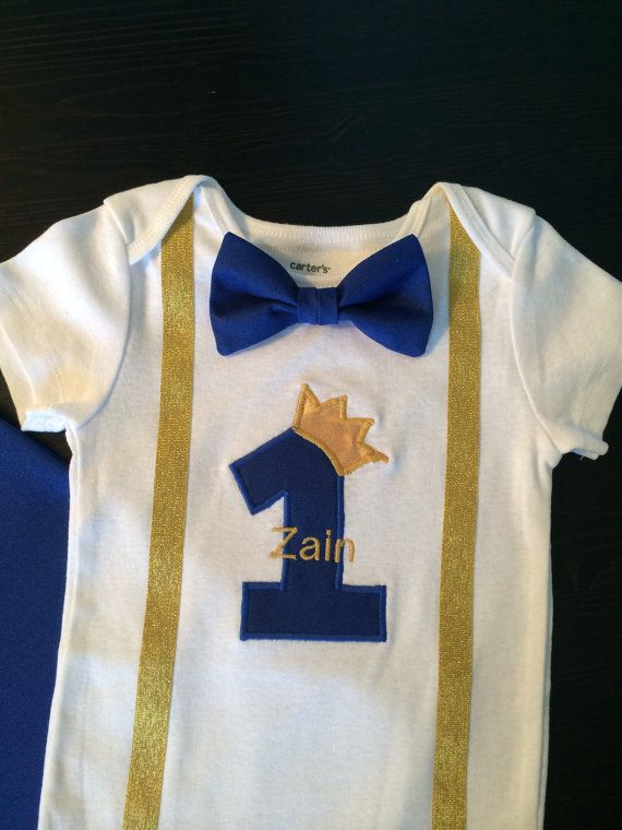 Birthday Prince Prince Cape Personalized baby shark First Birthday Outfit Boy Prince 1st birthday costume P Cake smash outfit