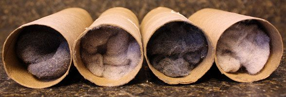 firestarters from toilet paper rolls & lint
