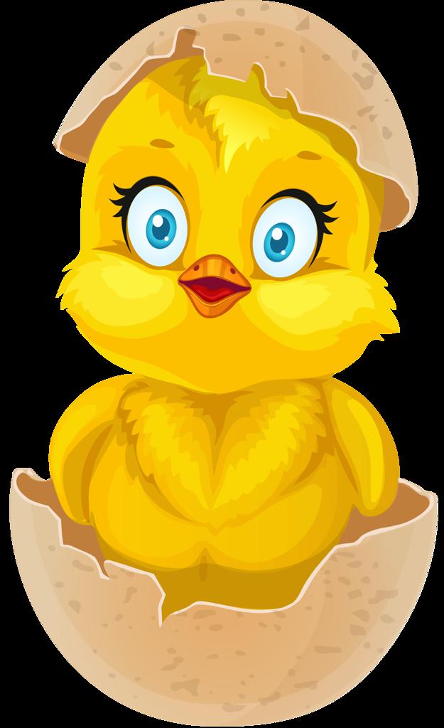 Разукрасить, прикольный рисунок цыпленка