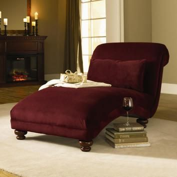 Home Decor, Maroon Red Small Chaise Lounge Chair Indoor That Look So  Comfortable And Elegant