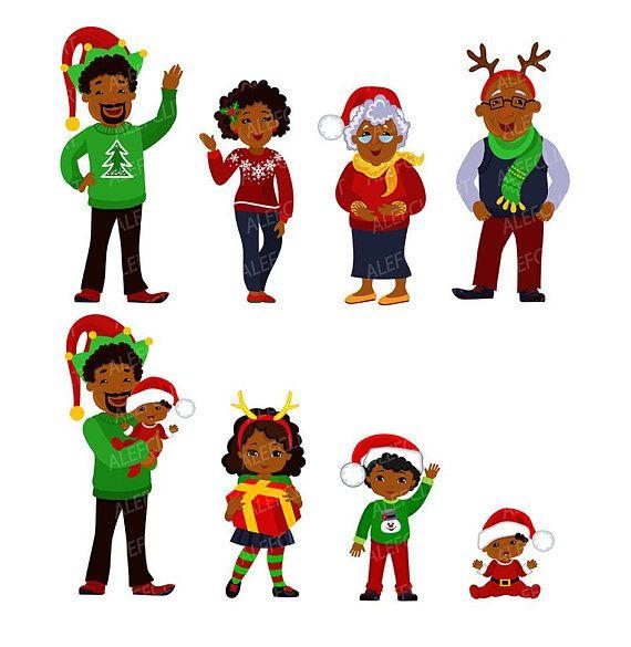 African American Family Clipart - Lizenzfrei - GoGraph