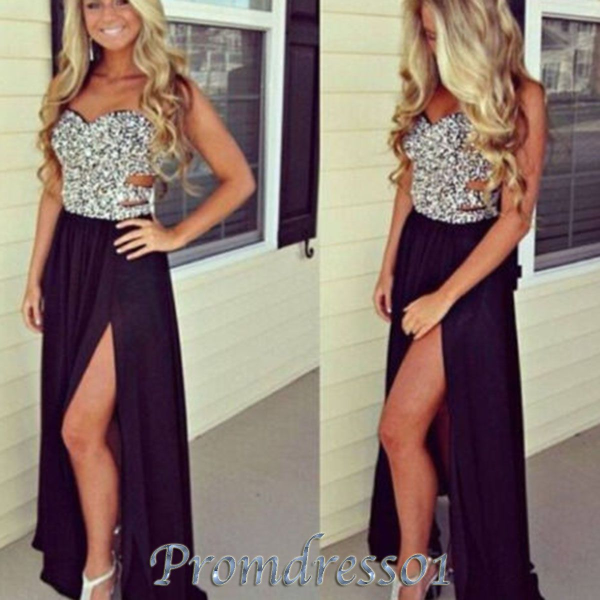 Black and gold prom dresses tumblr