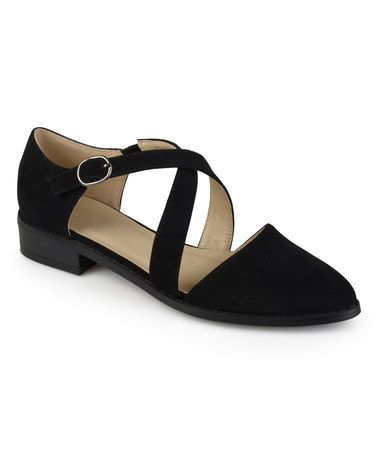 Another great find on #zulily! Black Crisscross Elina Flat #zulilyfinds