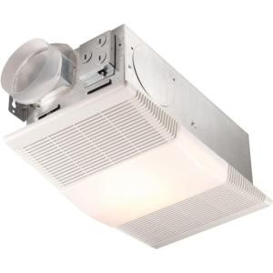 Null 70 Cfm Ceiling Exhaust Fan With Light And 1300Watt Heater Glamorous Small Bathroom Fans Design Ideas