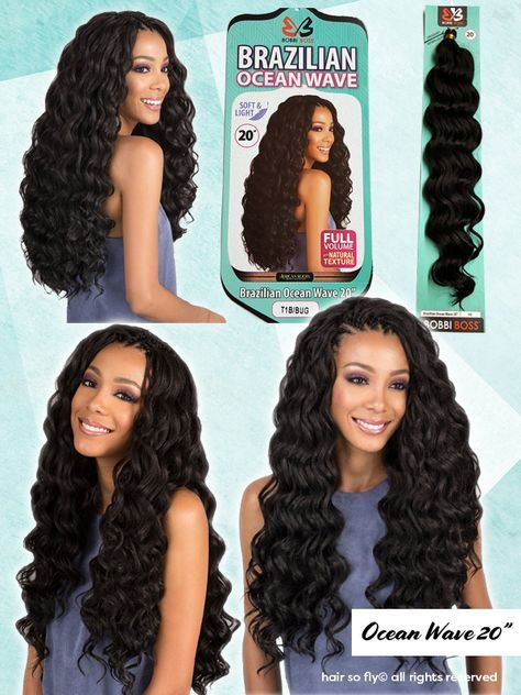 Bobbi Boss Crochet Braid Hair - Brazilian Ocean Wave 20 #crochetbraids