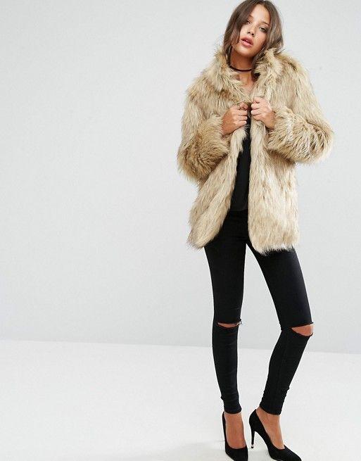 Discover Fashion Online Manteau En Fourrure, Fausse Fourrure, Asos 81681ce00616