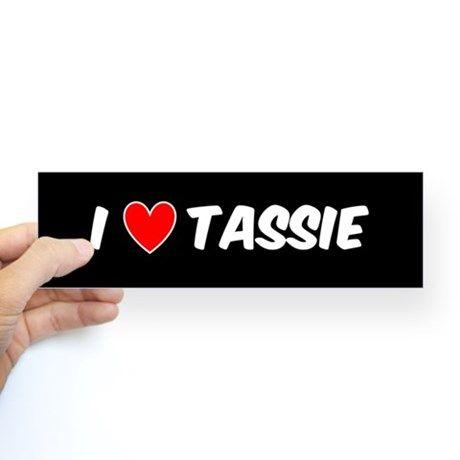 I love tassie bumper stickers bumpersticker tasmania tassie tas hobart aussie love luv heart