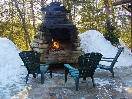 Outdoor Stone Fireplace Flickr Via Atticmag New House Ideas In