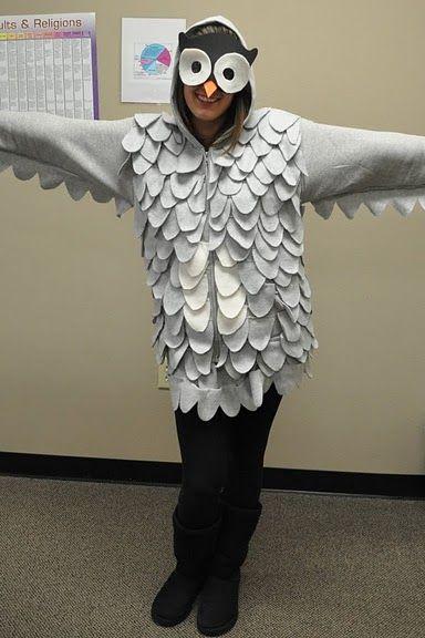 Owl costume hoodie or tshirt halloween pinterest owl diy halloween owl costume hoodie or tshirt solutioingenieria Images