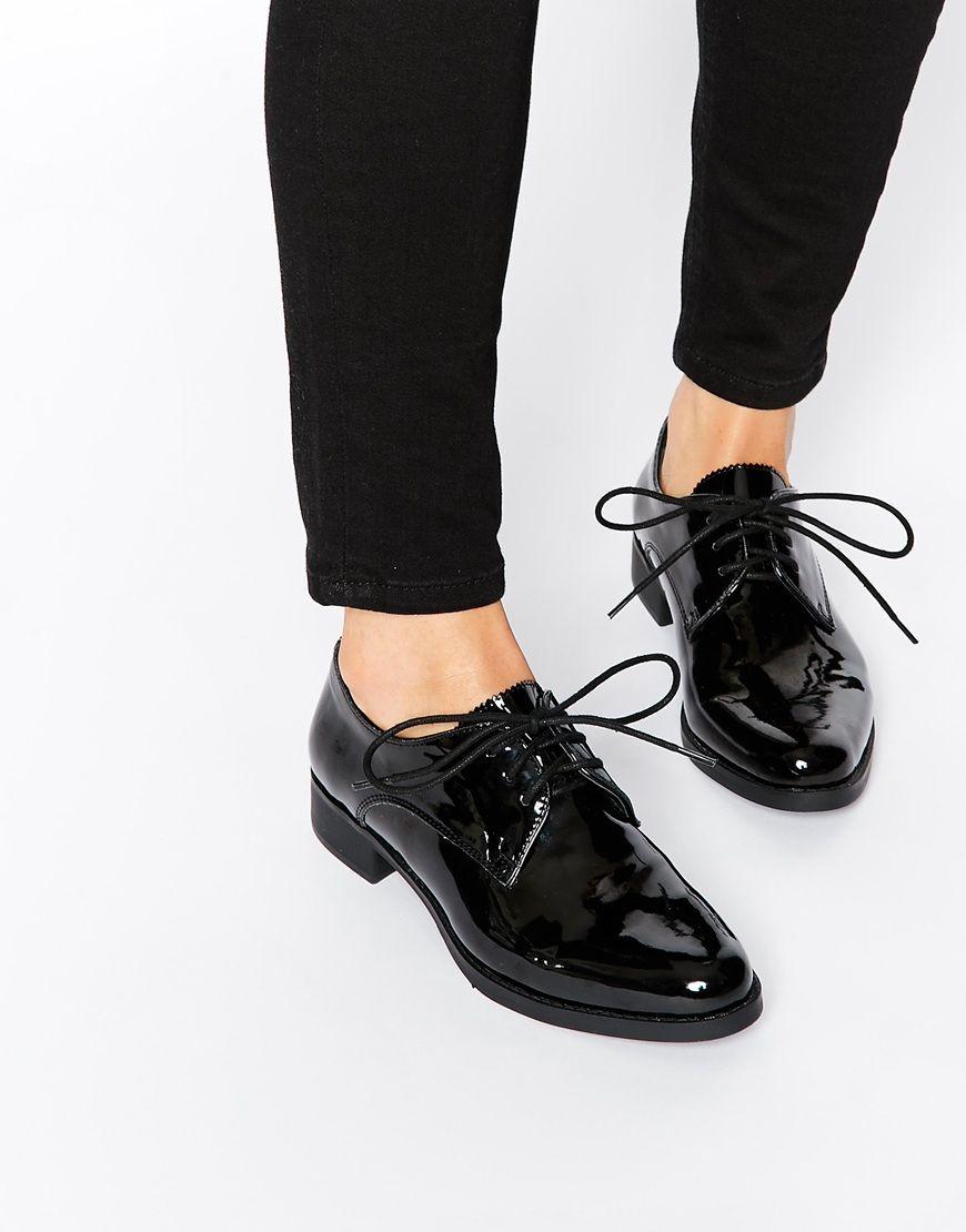 zapato negro calado plano zapato plano 7pYZw85qZ