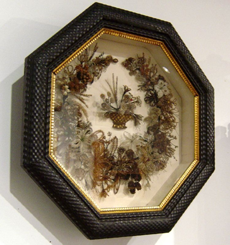 Victorian Mourning Hair Art Wreath