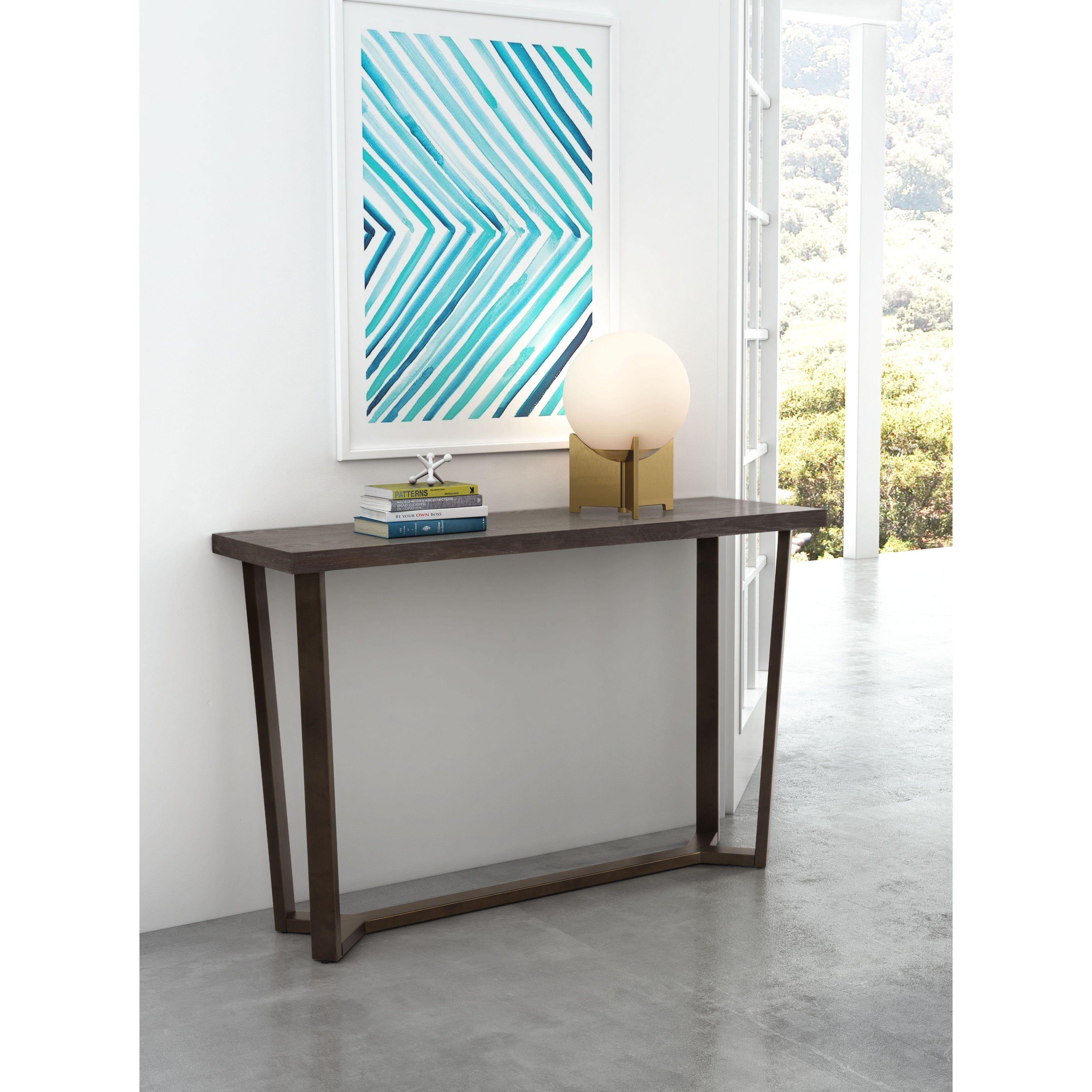 Zuo brooklyn grey oak console table brooklyn console table gray zuo brooklyn grey oak console table brooklyn console table gray oak aass geotapseo Choice Image