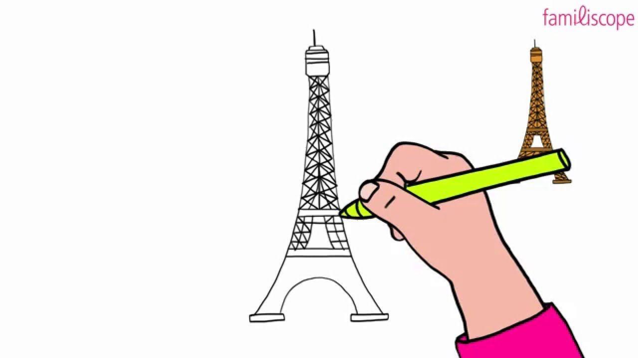 Apprendre à Dessiner La Tour Eiffel - How To Draw The Eiffel Tower