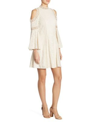 21146b87397b ALICE AND OLIVIA Enya Embroidered Cold Shoulder Dress.  aliceandolivia   cloth  dress