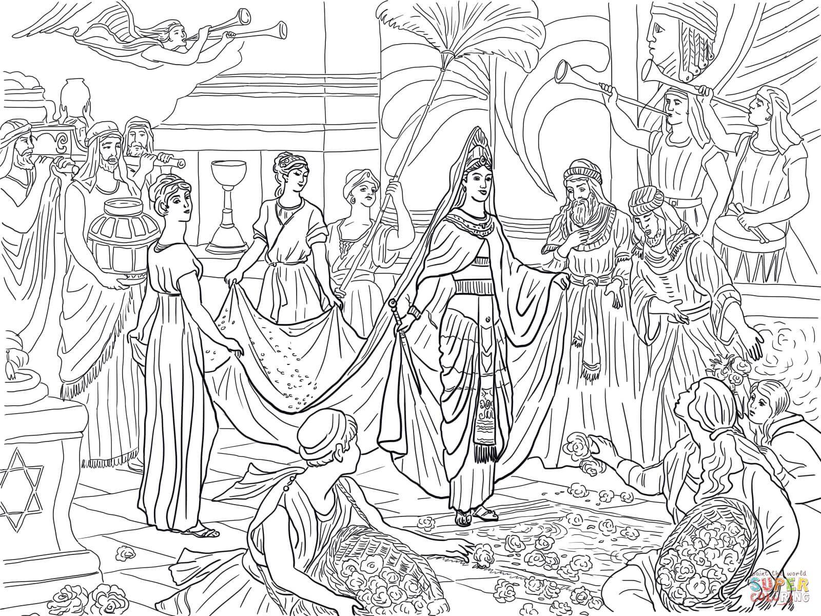 La Llegada De La Reina De Saba Super Coloring Paginas Para Colorear Reina De Saba Artesania Biblica