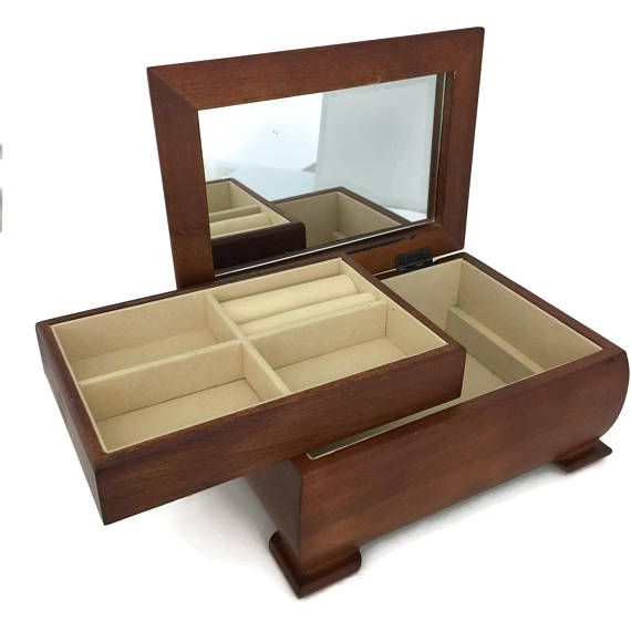 Mens Wooden Jewelry Box Jewelry Box for Men Wood Jewelry Storage