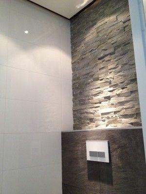 natuursteenstrips badkamer - Google zoeken - Toilet | Pinterest ...