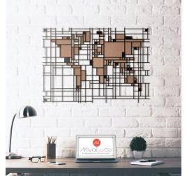 Decoration Murale Metal Carte Du Monde Mondrian Ideas For The