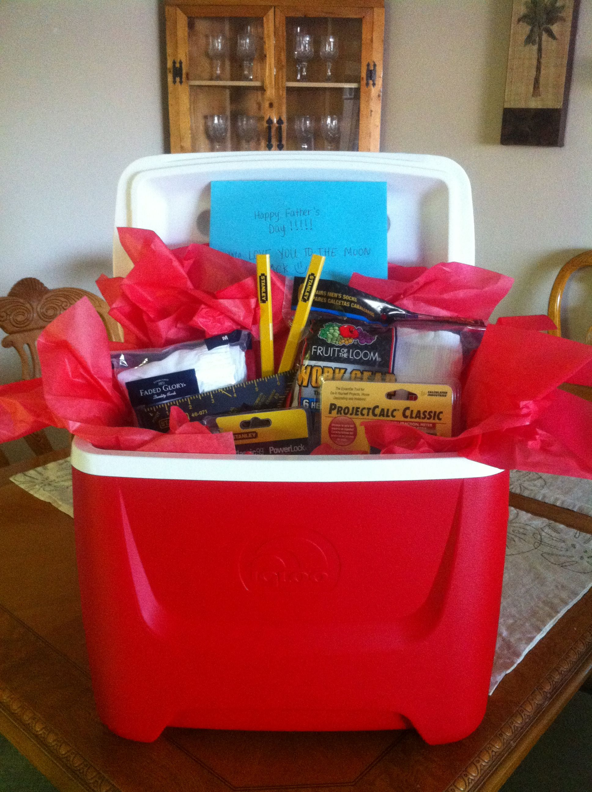 Use A Cooler As A Gift Basket To Fill With