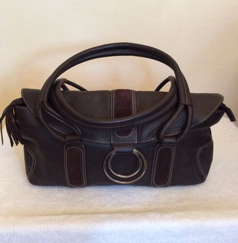 Brand New Billy Bag London Dark Brown Leather Shoulder Whispers Dress Agency