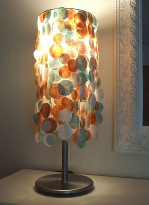 Making A Funky Lampshade Part 2 Funky Lamp Shades Funky Table Lamp Lamp