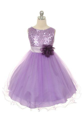 S Lilac Sequin And Flower Special Occasion Dress 7 8 Yrs Dresses For