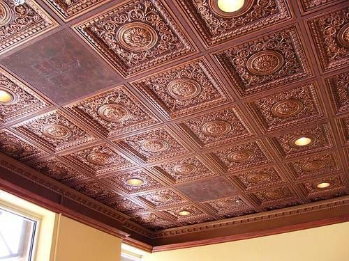 Drop In Ceiling Tiles By Talissadecor Drop Ceiling Lighting Faux Tin Ceiling Tiles