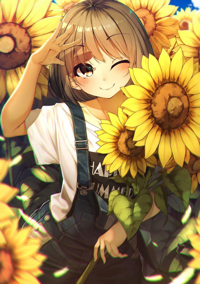 Nắng ấm áp ghê bạn nhỉ ? 🌻   Anime, Dễ thương, Nghệ thuật