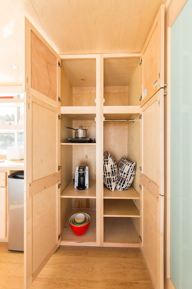 See inside this tiny home that   only square feet also caravan rh pinterest