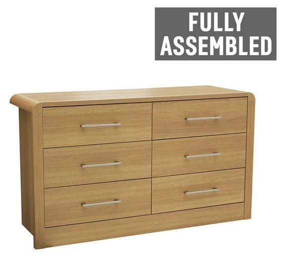 Argos Bedroom Furniture Fair Buy Heart Of House Elford 6 Drawer Chest  Oak Effect At Argosco 2018
