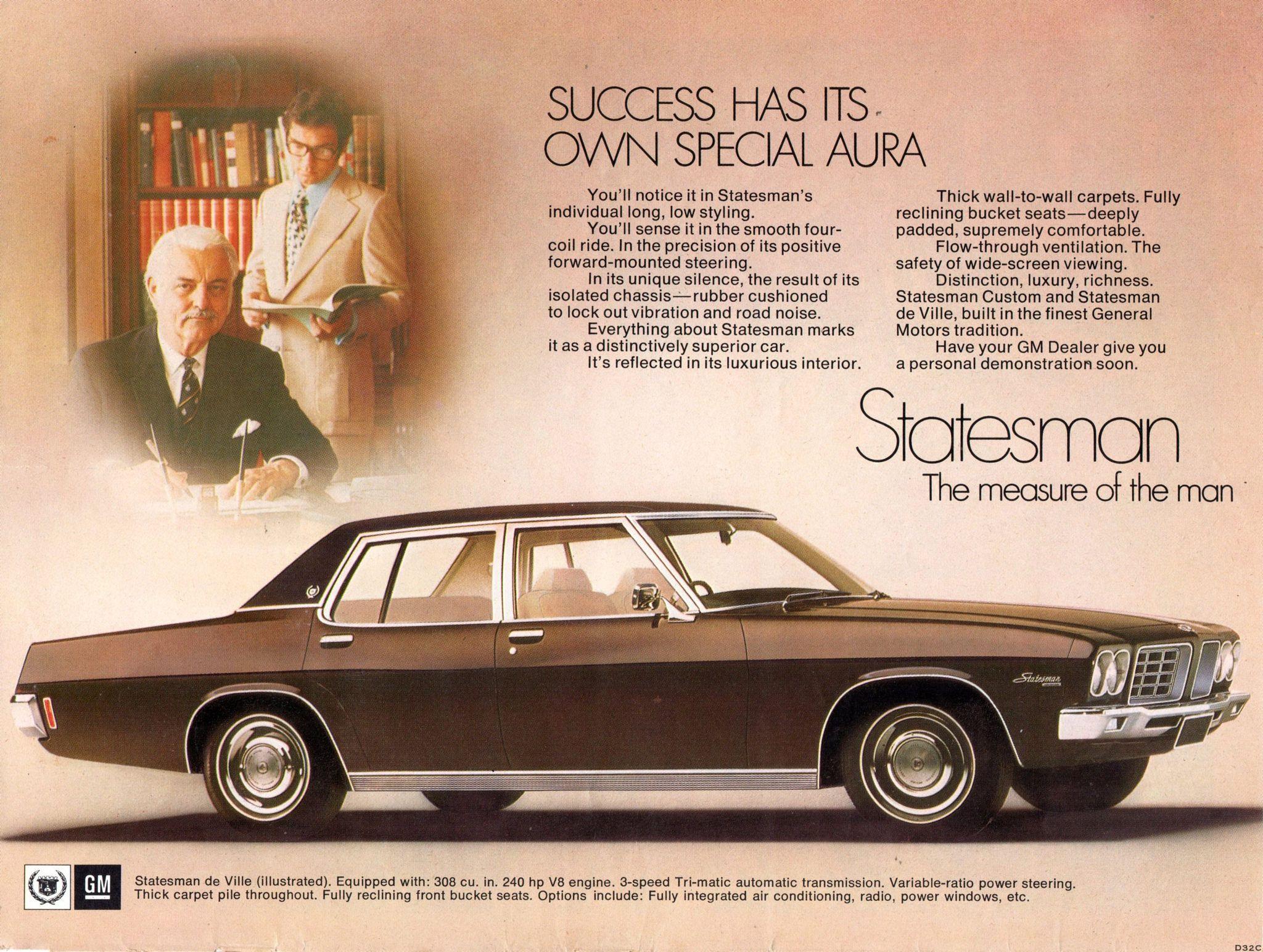 6988080281 1972 HQ Statesman de Ville by Holden Aussie Original Magazine ...