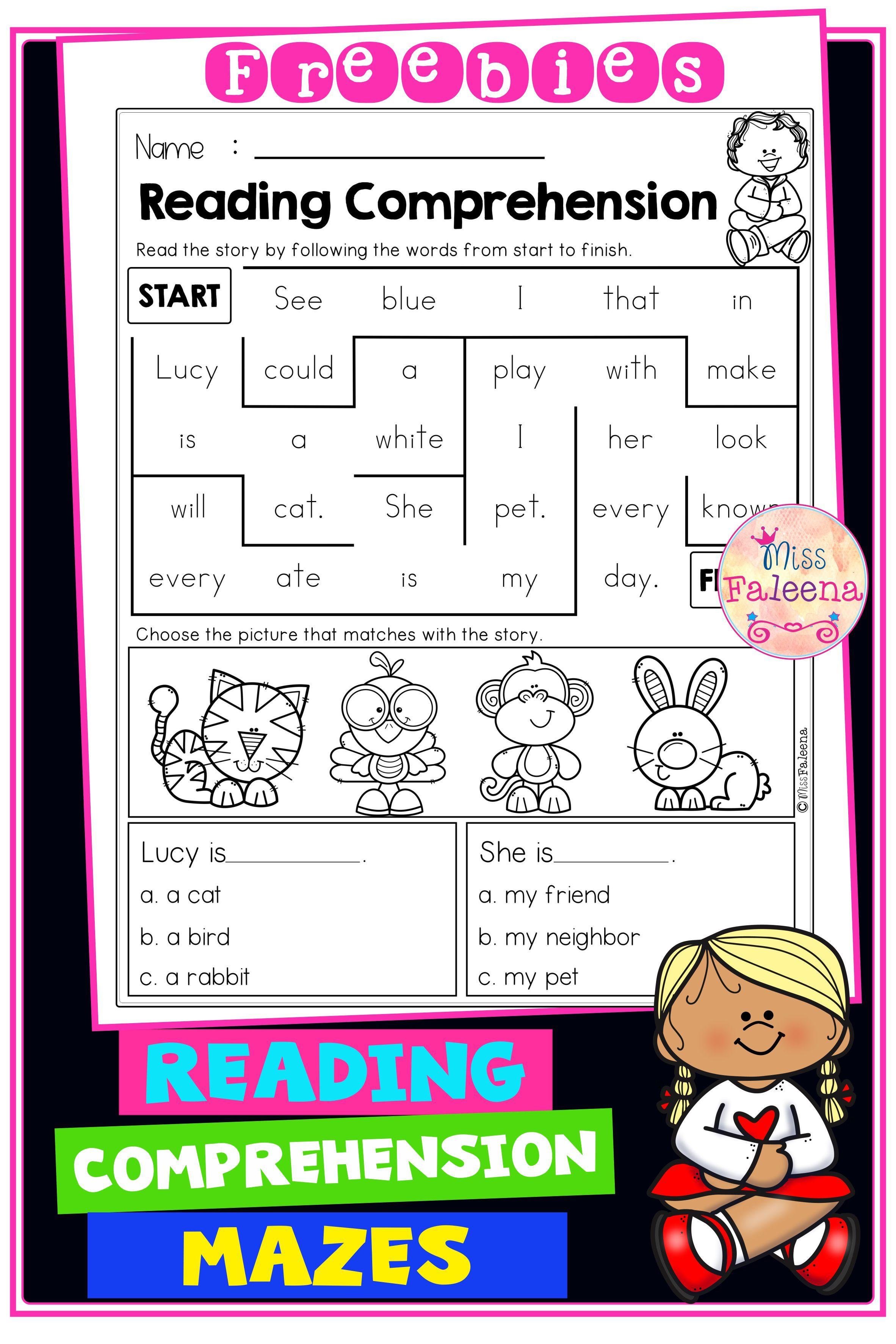Free Reading Comprehension Mazes Reading Comprehension Reading Comprehension Worksheets Reading Comprehension Strategies [ 3544 x 2364 Pixel ]