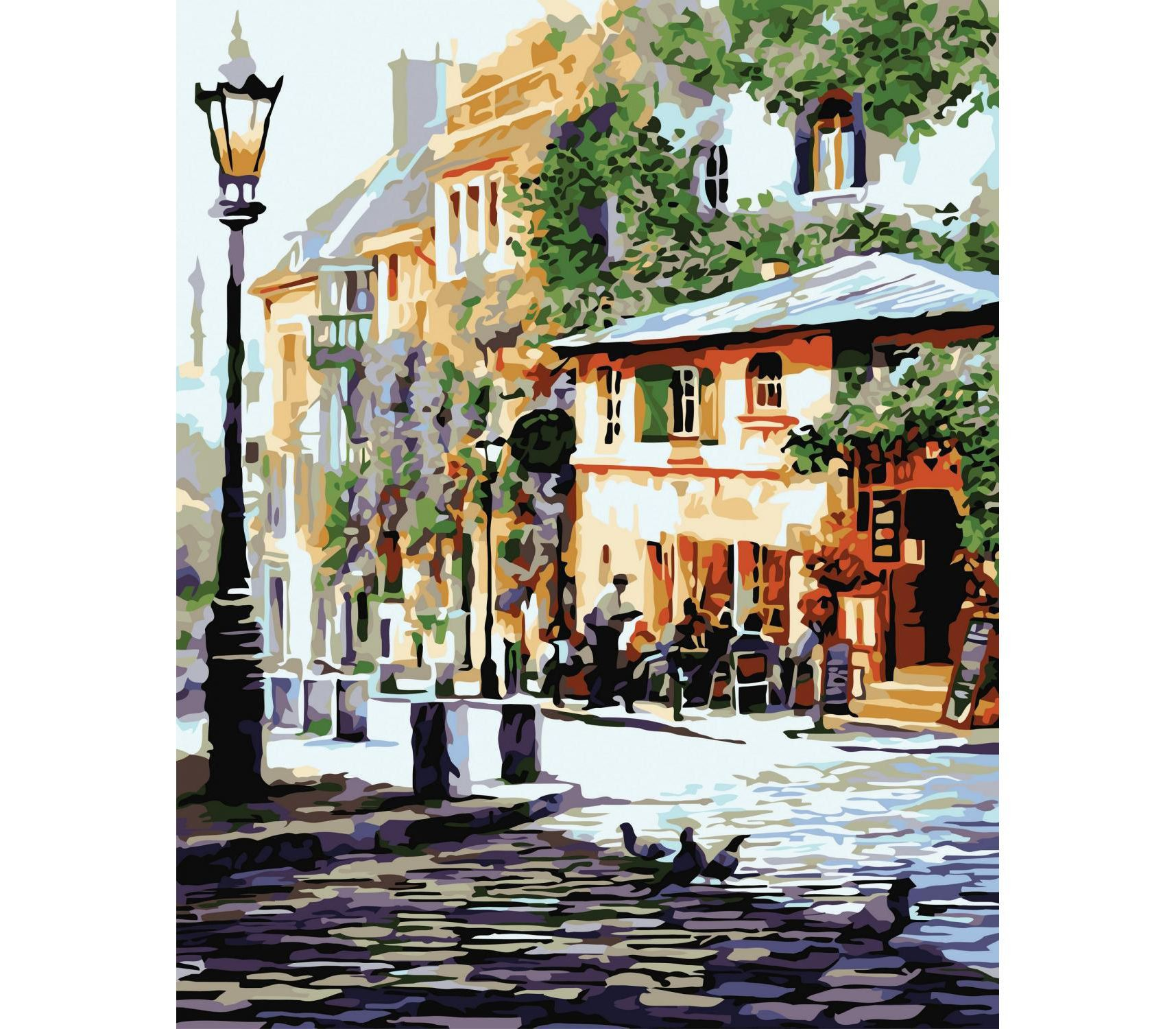 Paint by numbers kit Painting DIY Cozy cafe 16x20 inch