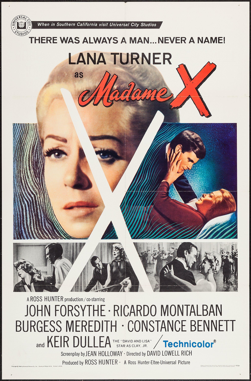 Madame X (1966) Stars Lana Turner, John Forsythe, Ricardo