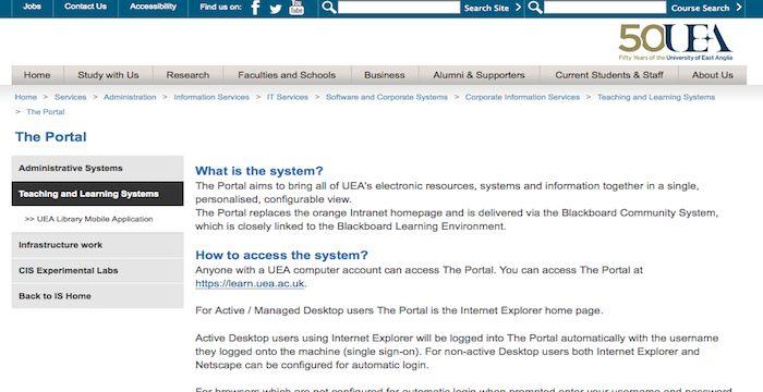 Uea Portal Login Uea Ac Uk Blackboard Online With Images Course Search Blackboard Online Portal