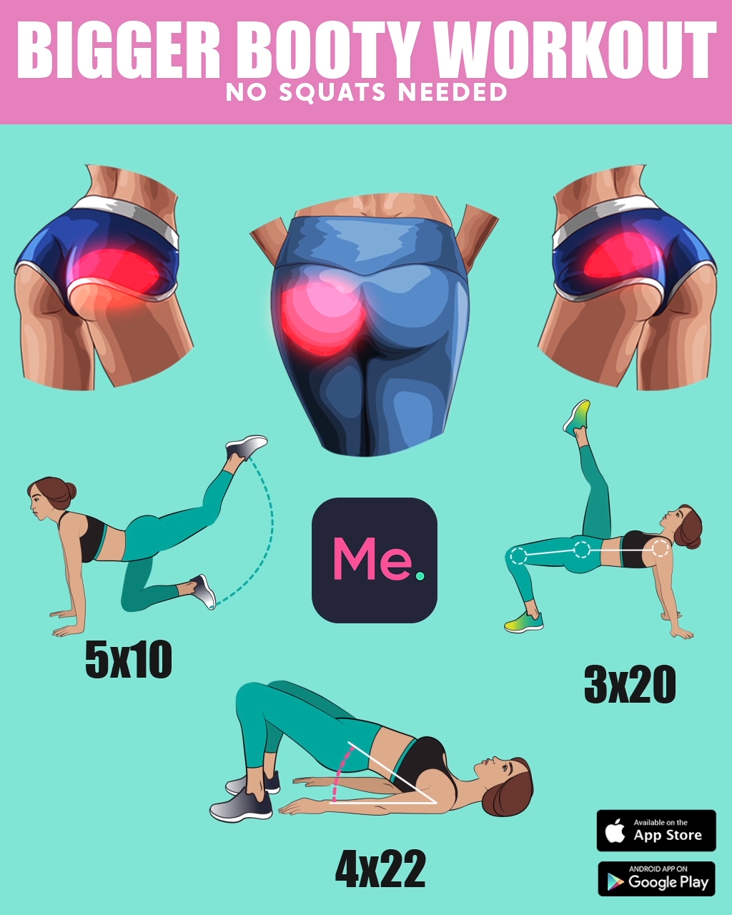 Create Perfect Booty with Effective Workout #fitnessexercisesathome
