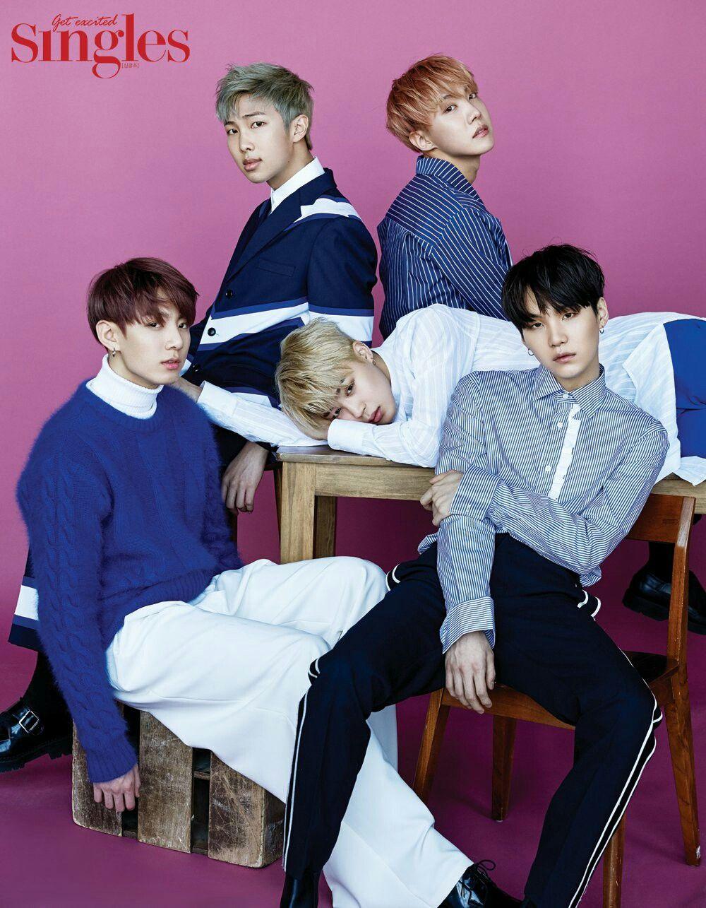 BTS for Singles Magazine January 2017 Issue ❤ #BTS #방탄소년단
