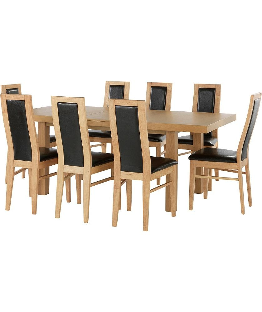 Buy Collection Ella Ext Dining Table And 8 Chairs