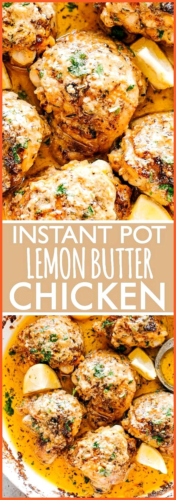 Instant Pot Lemon Butter Chicken  Juicy and tender chicken thighs cooked in the Instant Pot with th