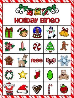 are you looking for a fun game for the holidays this holiday bingo game is sure to be a hit with your students 36 holiday bingo cards 5x7 calling