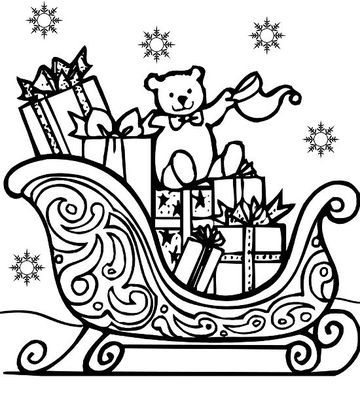 a well stocked vehicle means kris kringle is ready to fulfill christmas wishes good for second grade all printable coloring pages reprinted with