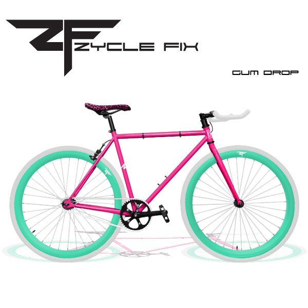Zycle Fix Gum Drop Fixed Gear Bicycle Fixed Gear Bicycle City