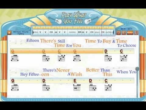 100 Years Five For Fighting Chords Lyrics Lesson Guitaraoke