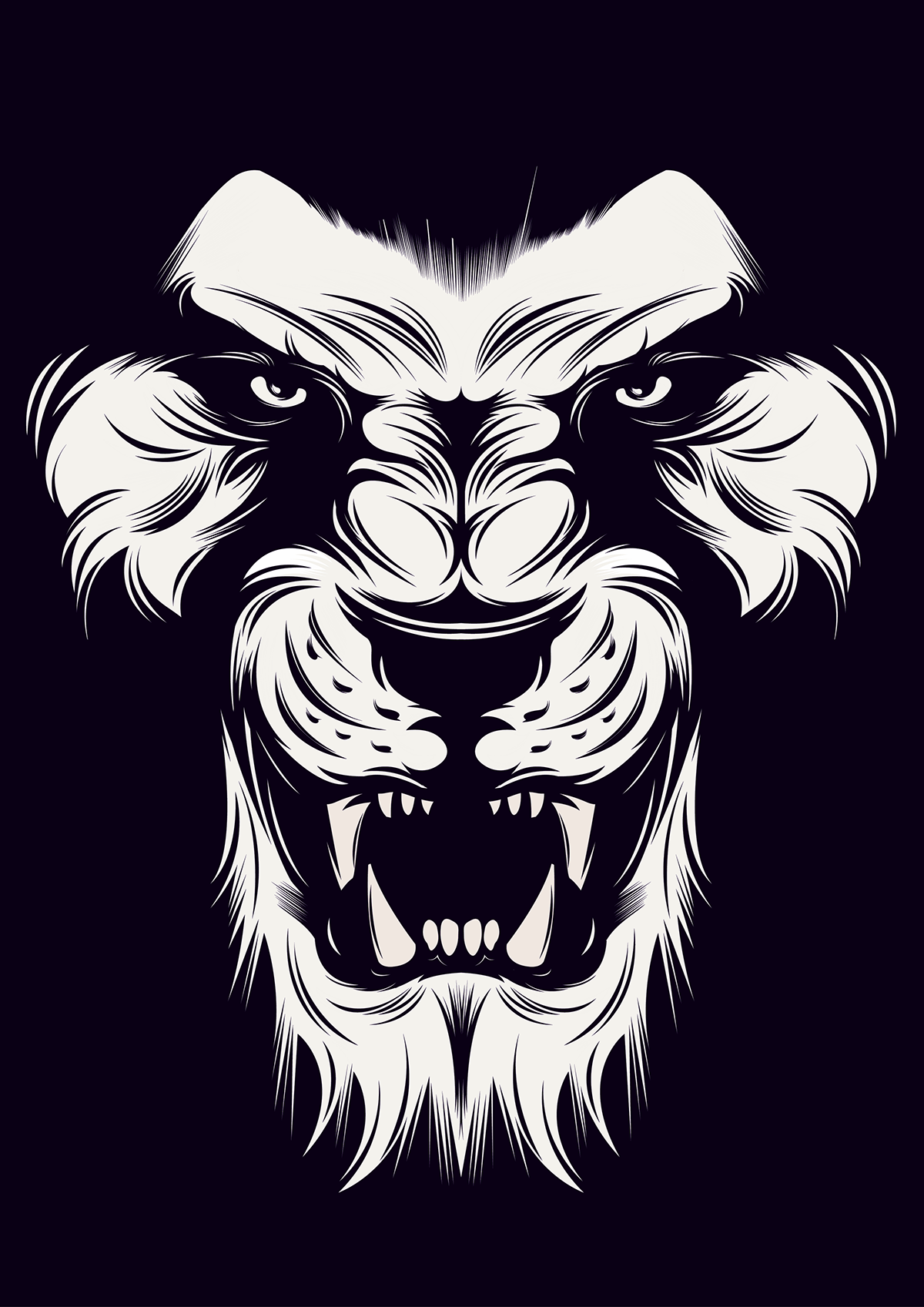 Angry Lion Vector on Behance Lion wallpaper, Lion art